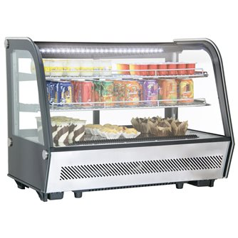 Refrigerated showcase 160 l black