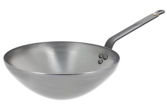 Wok 24 cm steel bi-element