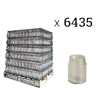Cylindrical glass jars 106 ml per pallet of 6435
