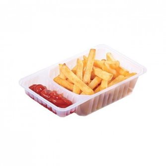 100 meat trays + sauce compartment 500g.