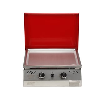 Plancha gas 6 kW stainless steel plate 55x45 coating stainless steel anti-trace hood red