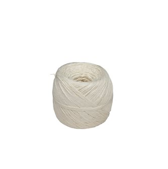 Ball 200 g of string for white rustic linen meats