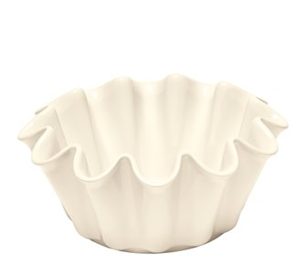 Grand ceramic white clay Corolle brioche mold Emile Henry