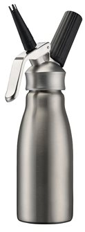 Professional stainless steel 0.5 litre siphon for whipped cream and mousses