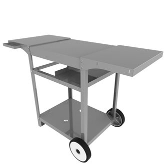 Stainless steel trolley for Baigura plancha