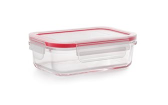 Airtight and stackable glass storage box 13x18 cm