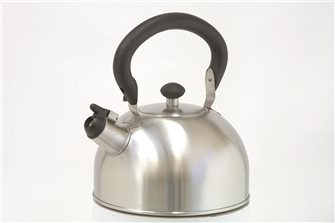 2.5-liter stainless steel whistling kettle with folding handle