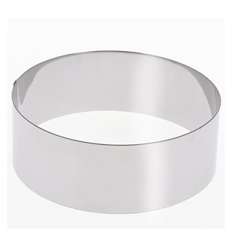 Stainless steel circle 26 cm high 6 cm for vacherin and other pastries