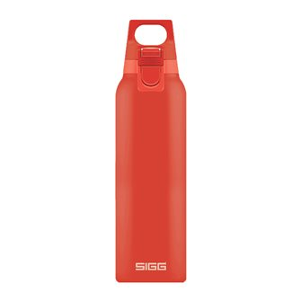0.5 liter light red stainless steel vacuum flask with Hot & Cold One Scarlet Sigg infuser