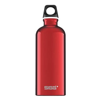 0.6 l light red aluminum bottle reusable Traveler Red Sigg