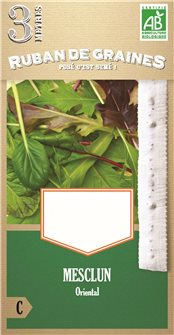 "Pre-sown """"Oriental mesclun"""" salad mix seed tape"