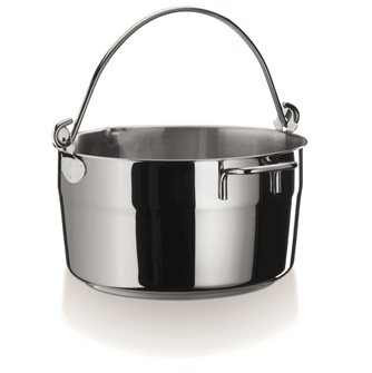 Stainless steel induction jam bowl 10 liters 30 cm with handle