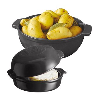 Charcoal gray Cheese Baker potato and cheese oven devil kit Charcoal Emile Henry
