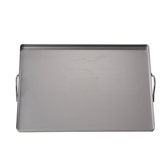 Rectangular steel plate 32x42 cm with handles all oven and barbecue